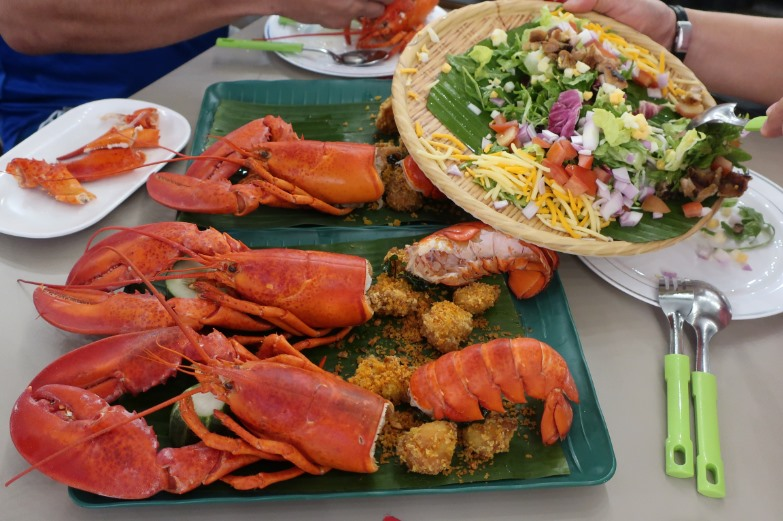 Boston lobsters at Sedap Wok