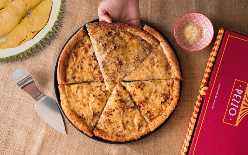 Durian pizzas are back at Pezzo Pizza