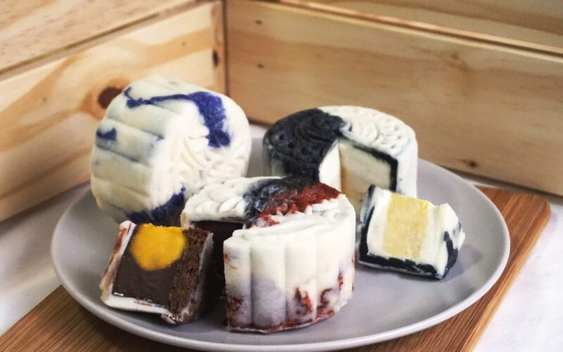 Ice Cream mooncakes by Three's A Crowd