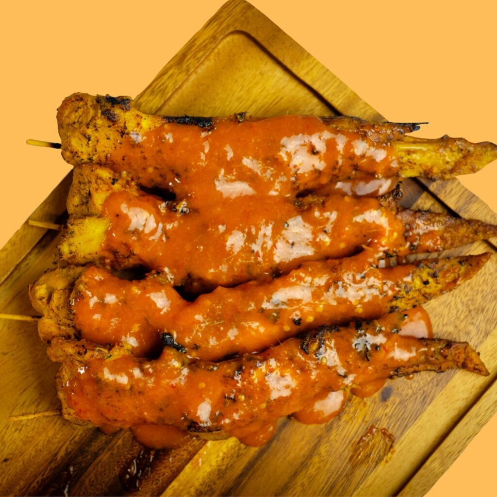 Percik wings with sauce
