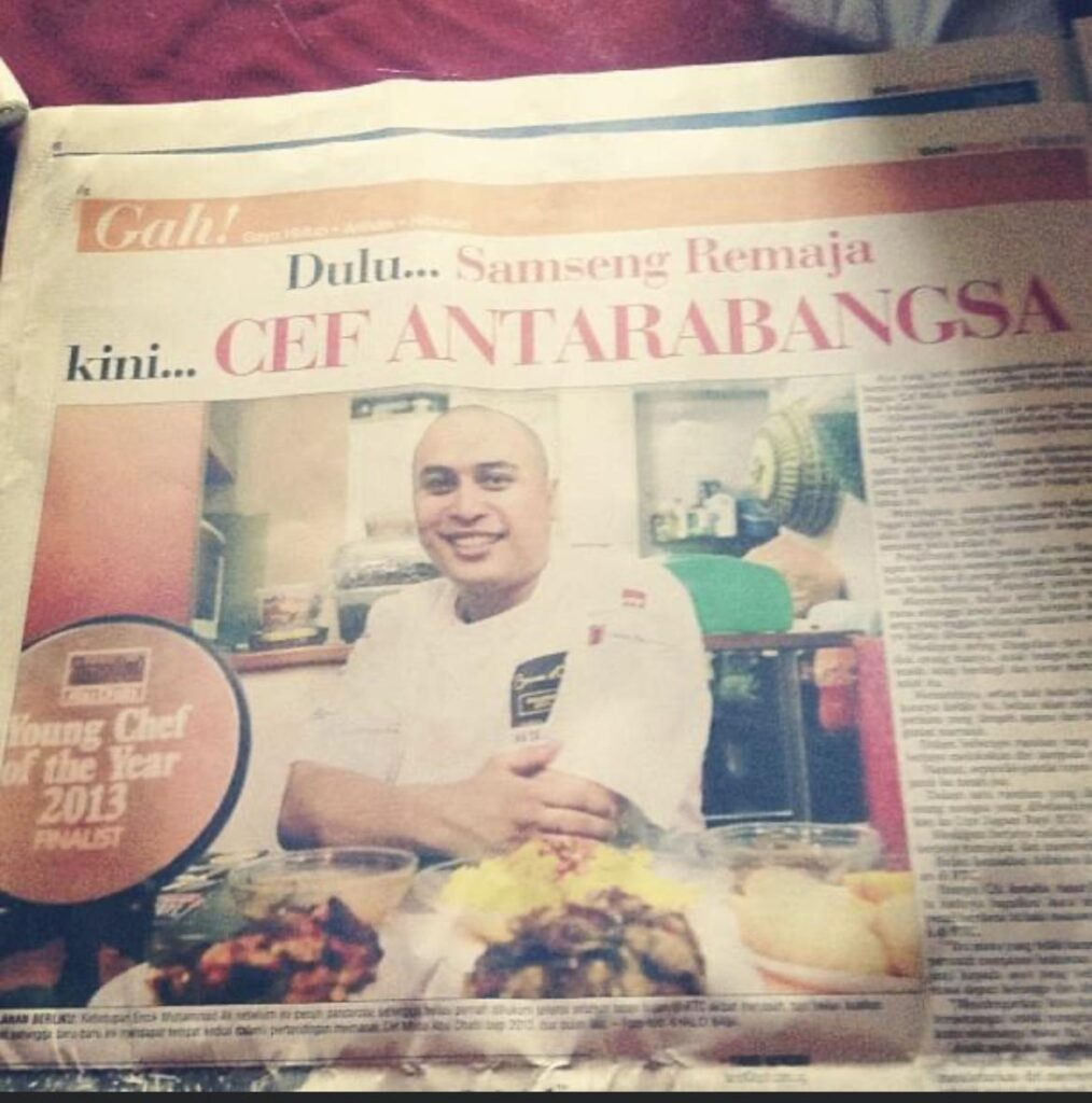 Newspaper article about Chef Ali