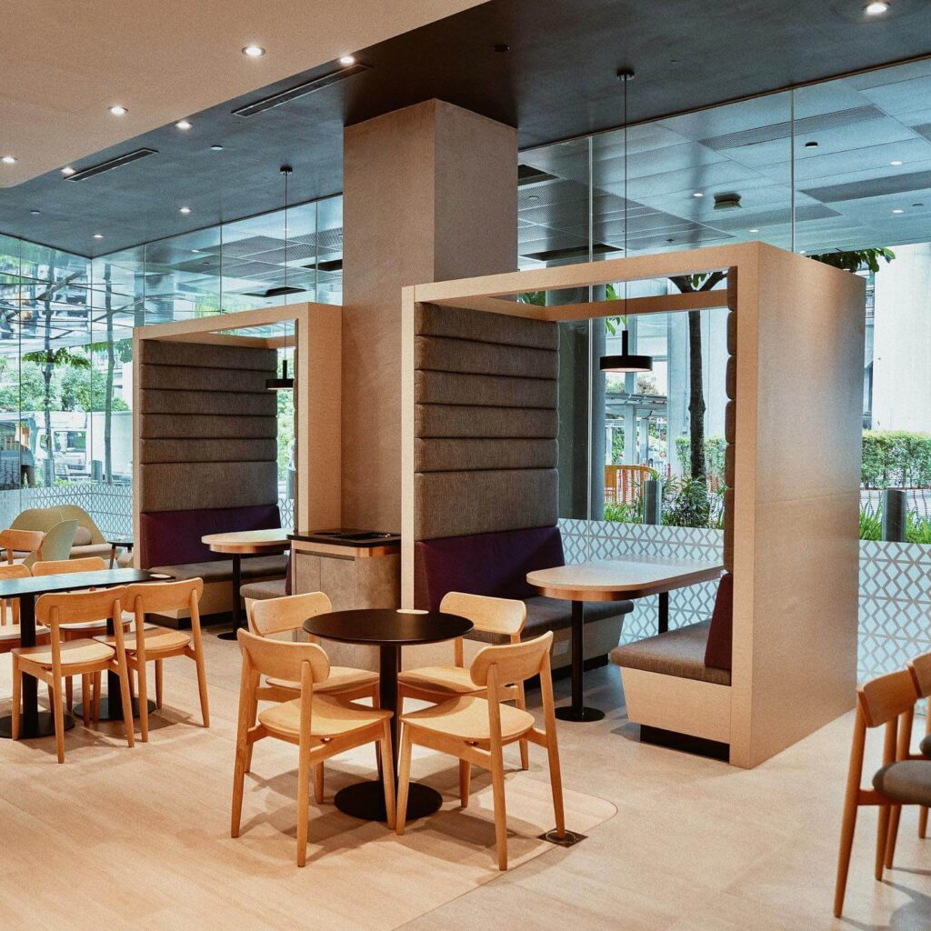 Maxx Coffee at Jem seating area