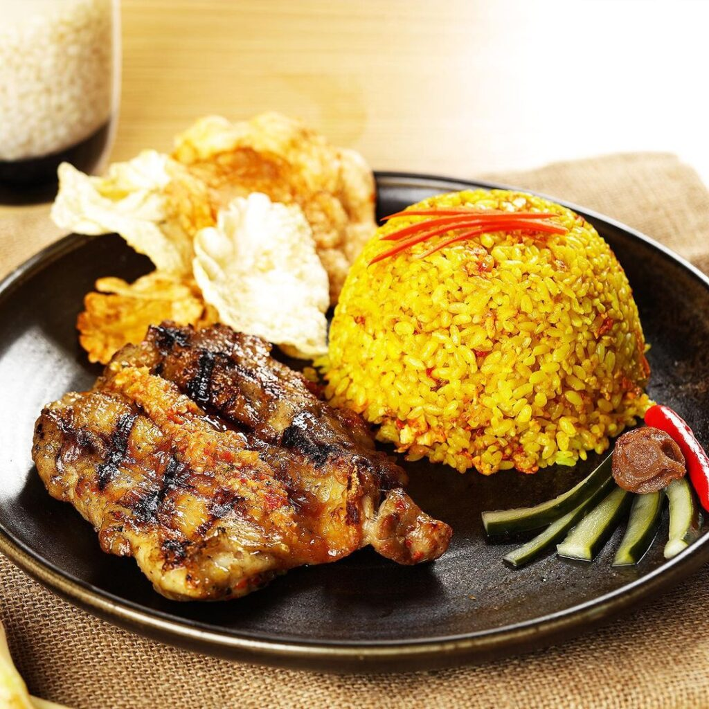Indonesian Lemongrass Chicken with Fried Rice